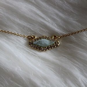 Bauble Bar mint pendant necklace